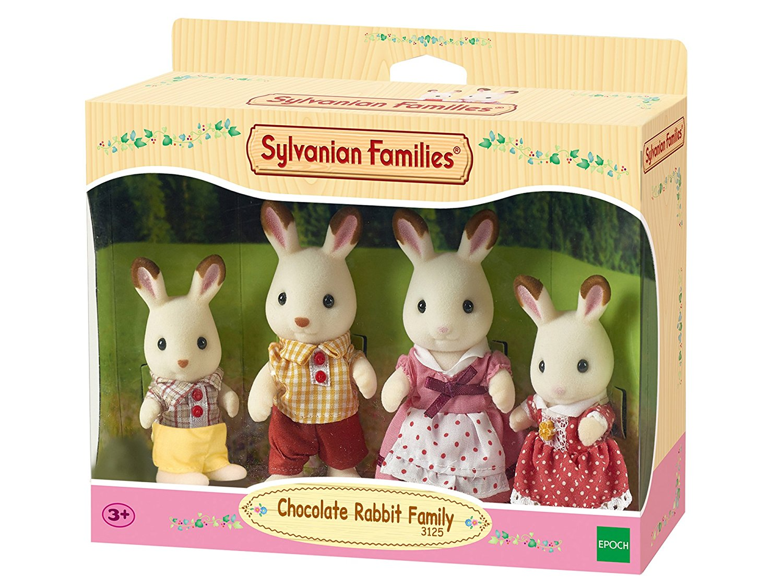 Famiglia conigli cioccolato